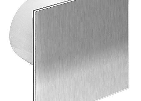 o 100 mm design badventilator edelstahl mit feuchtiger ventilator 461x330 - Ø 100 mm Design Badventilator Edelstahl mit Feuchtigkeitssensor Hygrostat sowie Timer Nachlauf und Rückstauklappe WTI100H Lüfter Ventilator Front Wandlüfter Badlüfter Ventilator Einbaulüfter Bad Küche leise 10 cm