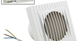 Hengda Ventilator 100 mm Badluefter mit Rueckstauklappe fuer Bad und 310x165 - Hengda Ventilator 100 mm Badlüfter mit Rückstauklappe für Bad und Küche Wandventilator, WC, niedrigem Energieverbrauch 12W, leiser Betrieb 35 dB Weiß