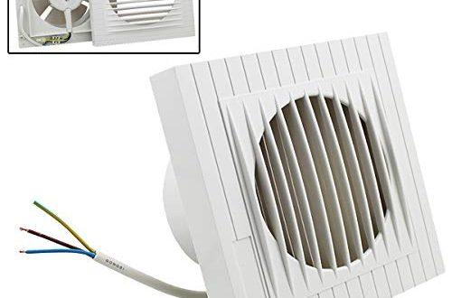 Hengda Ventilator 100 mm Badluefter mit Rueckstauklappe fuer Bad und 500x330 - Hengda Ventilator 100 mm Badlüfter mit Rückstauklappe für Bad und Küche Wandventilator, WC, niedrigem Energieverbrauch 12W, leiser Betrieb 35 dB Weiß