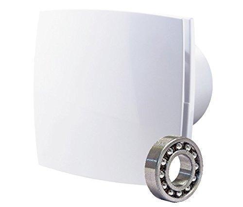 Abluftventilator im zeitlosen Design mit Kugellager Hygrostat und Nachlauftimer - Abluftventilator im zeitlosen Design, mit Kugellager, Hygrostat und Nachlauftimer